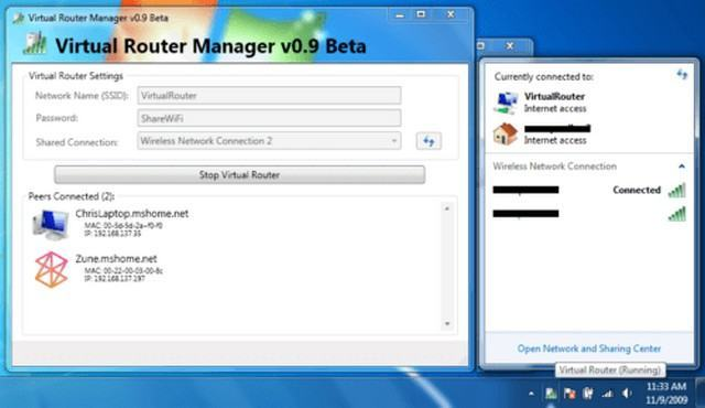 Phần mềm Virtual Router/ Virtual Router Manager